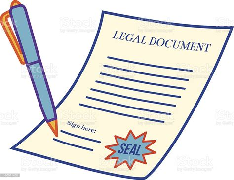 Legal Document Stock Illustration - Download Image Now ...