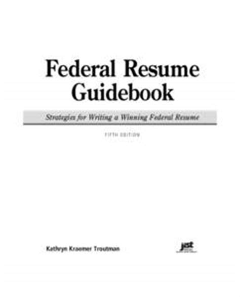 The Federal Resume Guidebook Pdf by Kathryn Troutman Pdfsearch Io Document Search Engine