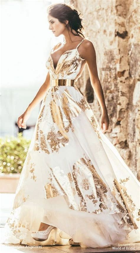 Gold Wedding Dresses Oosile