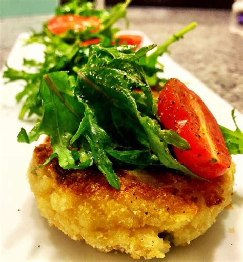 risotto cakes ideas  pinterest black olive