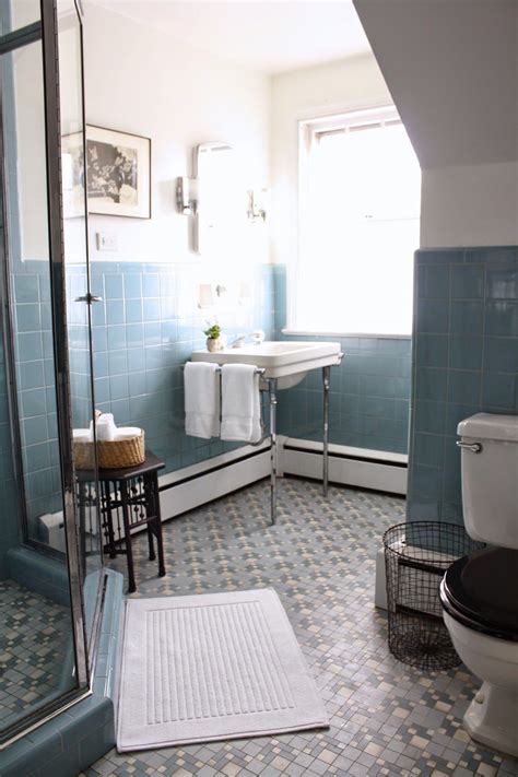 Bathroom Tiles And Decor by Vintage Blue Tile Bathroom Via Meet Me In Philadelphia