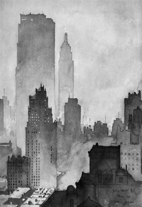 city skyline art ideas  pinterest