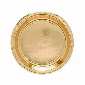 Lot D Assiette Pas Cher : assiette en carton dor 23 cm assiettes jetables pas cher badaboum ~ Melissatoandfro.com Idées de Décoration