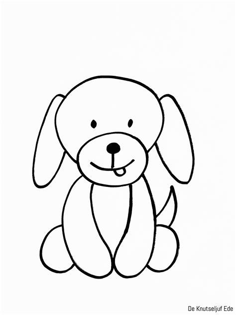 Kleurplaat Hond Verjaardag by Kleurplaten Honden Kleurplaten Honden Puppies