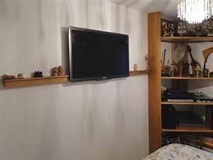 Meuble Tv Avec Etagere : agencement interieur ebenisterie brettes ~ Teatrodelosmanantiales.com Idées de Décoration