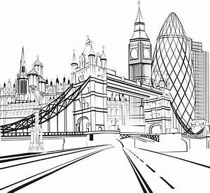 London Bridge Dessin : coloriage de londres tower bridge big ben et la city coloring back to our youth adult ~ Dode.kayakingforconservation.com Idées de Décoration