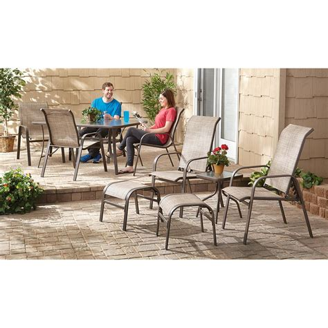 shale patio castlecreek shale island dining set 10 piece 657275 patio furniture at sportsman s guide
