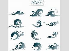 Wave design elements curved lines decoration Free vector