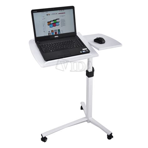 rolling laptop desk table angle height adjustable rolling laptop desk over bed