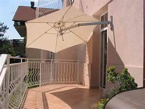 paraflex fim weishaupl wand sonnenschirme art jardin With französischer balkon mit wand sonnenschirm schwenkbar