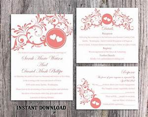 wedding invitation template download printable wedding With free printable heart wedding invitations
