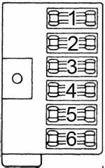 Dodge B200  1971 - 1978  - Fuse Box Diagram