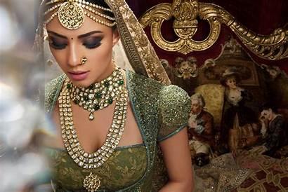 Bride Indian Makeup Saree Jewelry Wallpapers Veil