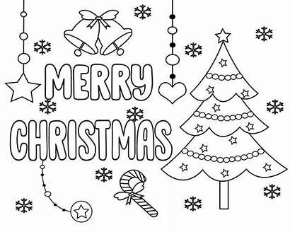 Christmas Coloring Merry Pages Printable