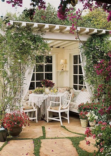 shabby chic garden accessories 20 cozy and romantic pergola decor ideas house design and decor