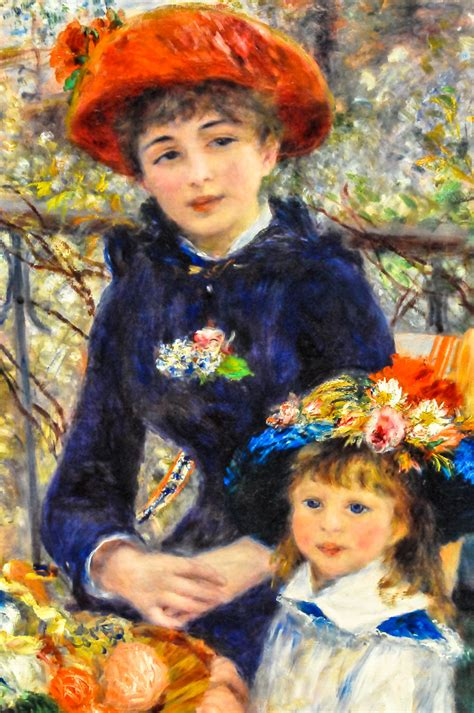 Pierre Auguste Renoir Two Sisters On The Terrace 1881