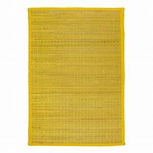 Tapis En Jonc De Mer : tapis salle de bain jaune en jonc de mer 60x90cm ~ Nature-et-papiers.com Idées de Décoration