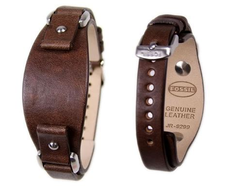 Fossil Ersatzband Uhrenarmband Leder Band 12mm braun
