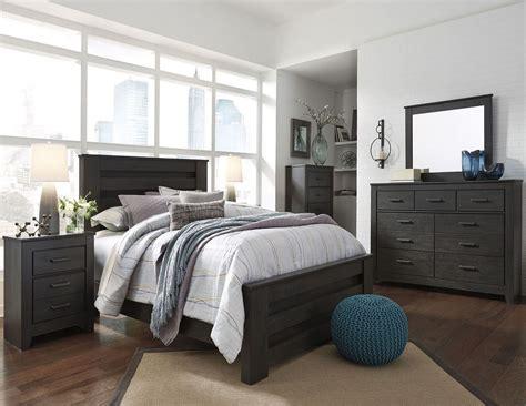 black bedroom furniture sets brinxton black poster bedroom set from coleman 14567