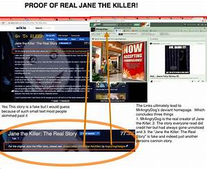 PROOF OF THE REAL JANE THE KILLER STORY! by ...