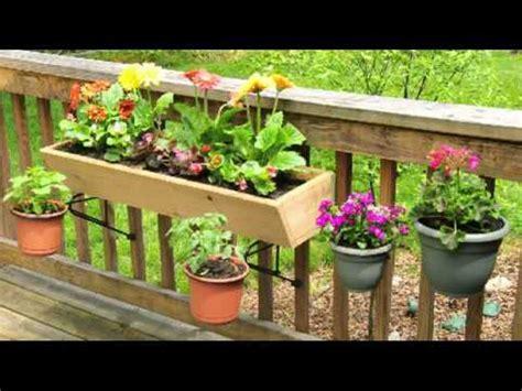 deck railing planters plant holders for balcony railings