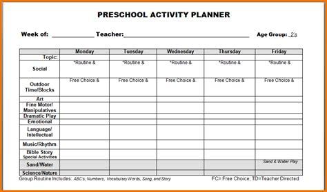 pre k lesson plan template pre k lesson plan templates template business
