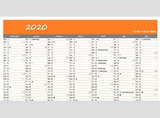 Kalender 2020 zum Ausdrucken Download 2019 Calendar