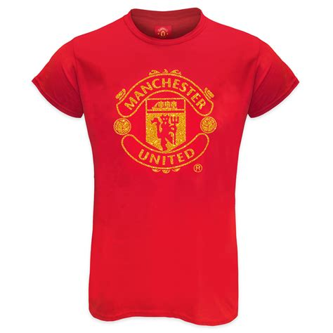 Manchester United FC Official Football Gift Ladies Glitter ...