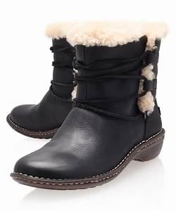 Ugg Boots : ugg black rianne leather ankle boots in black lyst ~ Eleganceandgraceweddings.com Haus und Dekorationen