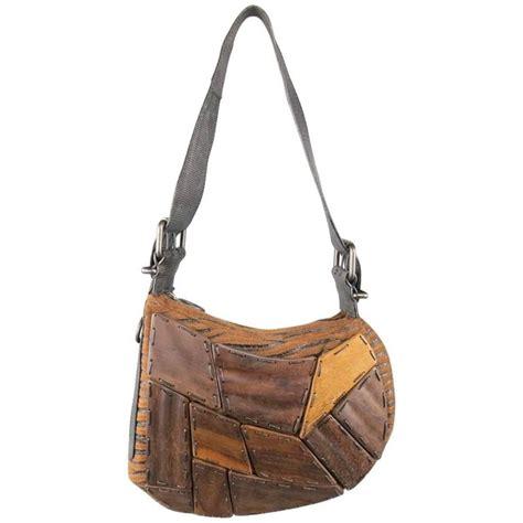 fendi straw wicker handbag  leather case   stdibs