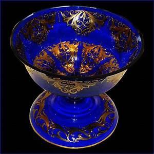 Coupe En Or : coupe en cristal de venise bleu cobalt et or 22 carats ~ Medecine-chirurgie-esthetiques.com Avis de Voitures