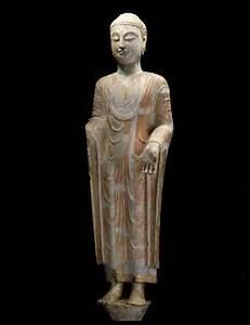 Buddha Figur 150 Cm : standing figure of a buddha northern qi 550 577 limestone overall height 150 cm ~ Buech-reservation.com Haus und Dekorationen