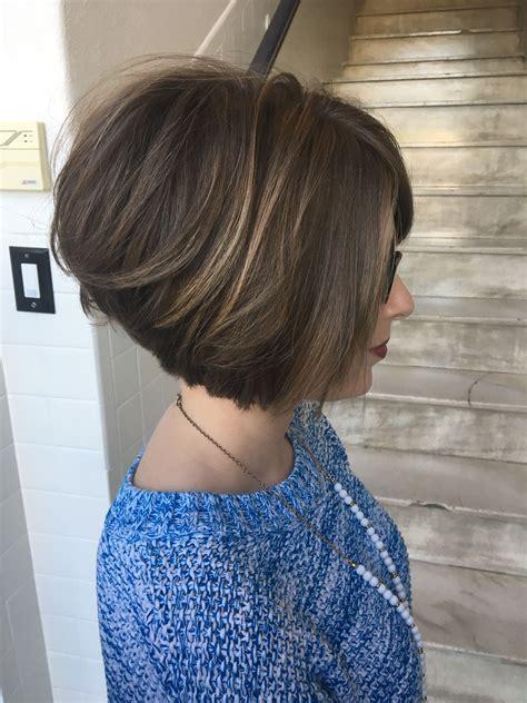 bob short hair blunt cut stacked bob haircut hairstyle