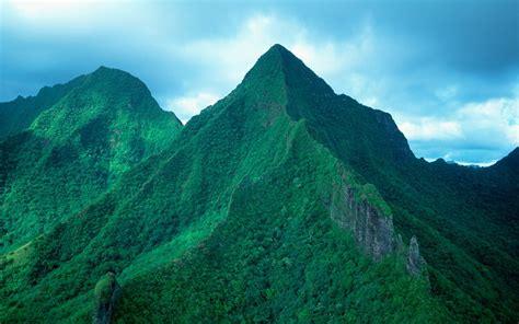 tahiti green mountains wallpaper preview wallpapercom