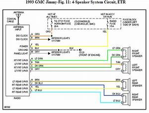 Can You Get The Radio Wiring Diagram For My 1993 Gmc Jimmy 4 Door 4x4 Sle