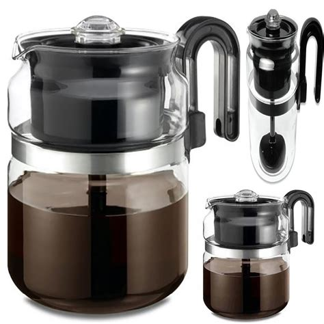 coffee maker top 8 cup stove thermal pot glass kitchen