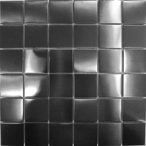 Stainless Steel Mosaic Wall Tiles Black Metallic Brushed