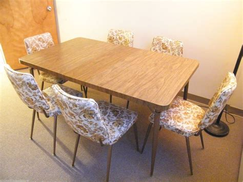 1970s formica kitchen table and chairs vintage 1960s formica wood kitchen table leaf w 6