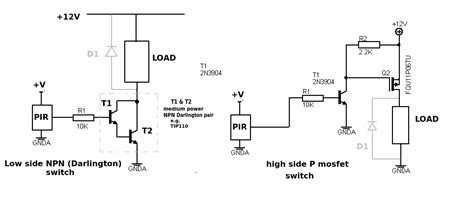 Npn Circuit To Switch 12v 1a Dc Load By 3.3v 1a