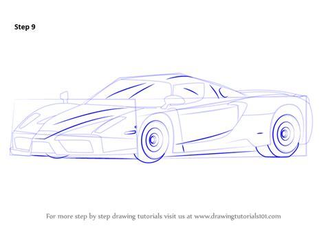 ferrari enzo sketch learn how to draw a ferrari enzo sports cars step by