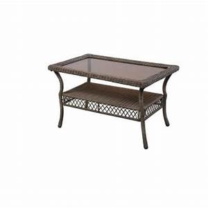 hampton bay spring haven grey patio coffee table 65 20305 With spring haven furniture home depot