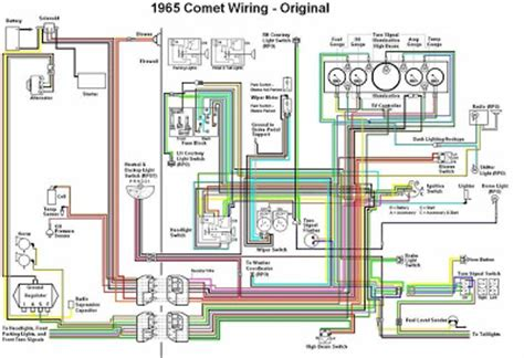 mercury comet  original wiring diagram