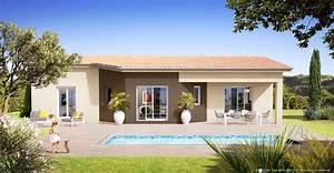 plan maison plain pied rhone With good modele de maison en l 7 de maison neuve moderne construction