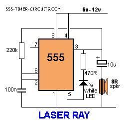Laser Ray Circuit Basic Diagram
