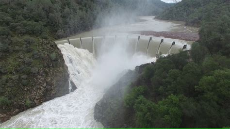 lake clementine spilling  heavy rain  hd drone video youtube