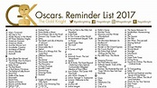 Oscars 2018: Printable Best Picture Reminder List; How ...