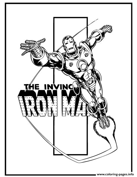 invincible iron man comic book coloring pages printable