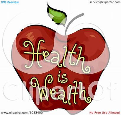 Health Wealth Clipart Icon Royalty Apple Illustration