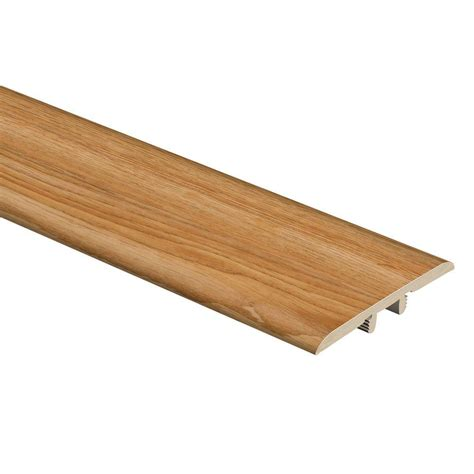 home depot t molding zamma chatham oak 5 16 in thick x 1 3 4 in wide x 72 in length vinyl t molding 015223605