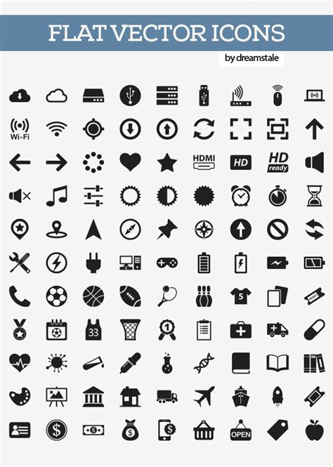 200 free flat vector icons pack icons graphic design